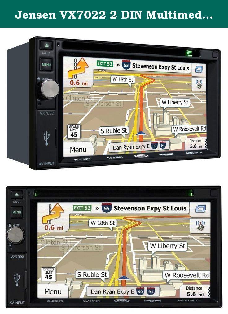 """Jensen VX7022 2 DIN Multimedia Receiver, 6.2"""" Touch Screen"""