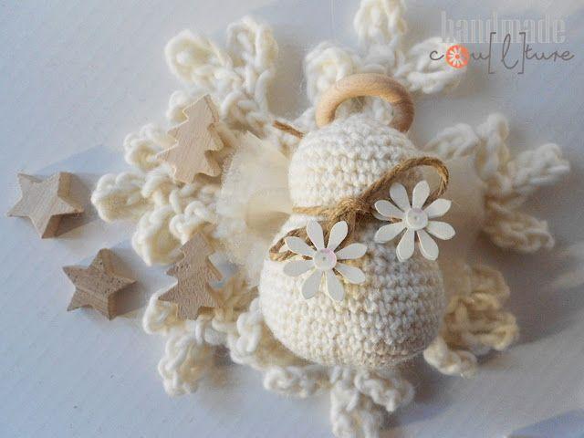 Tutorial Angioletto Amigurumi : Tutorial per un piccolo angelo amigurumi da usare come pendente