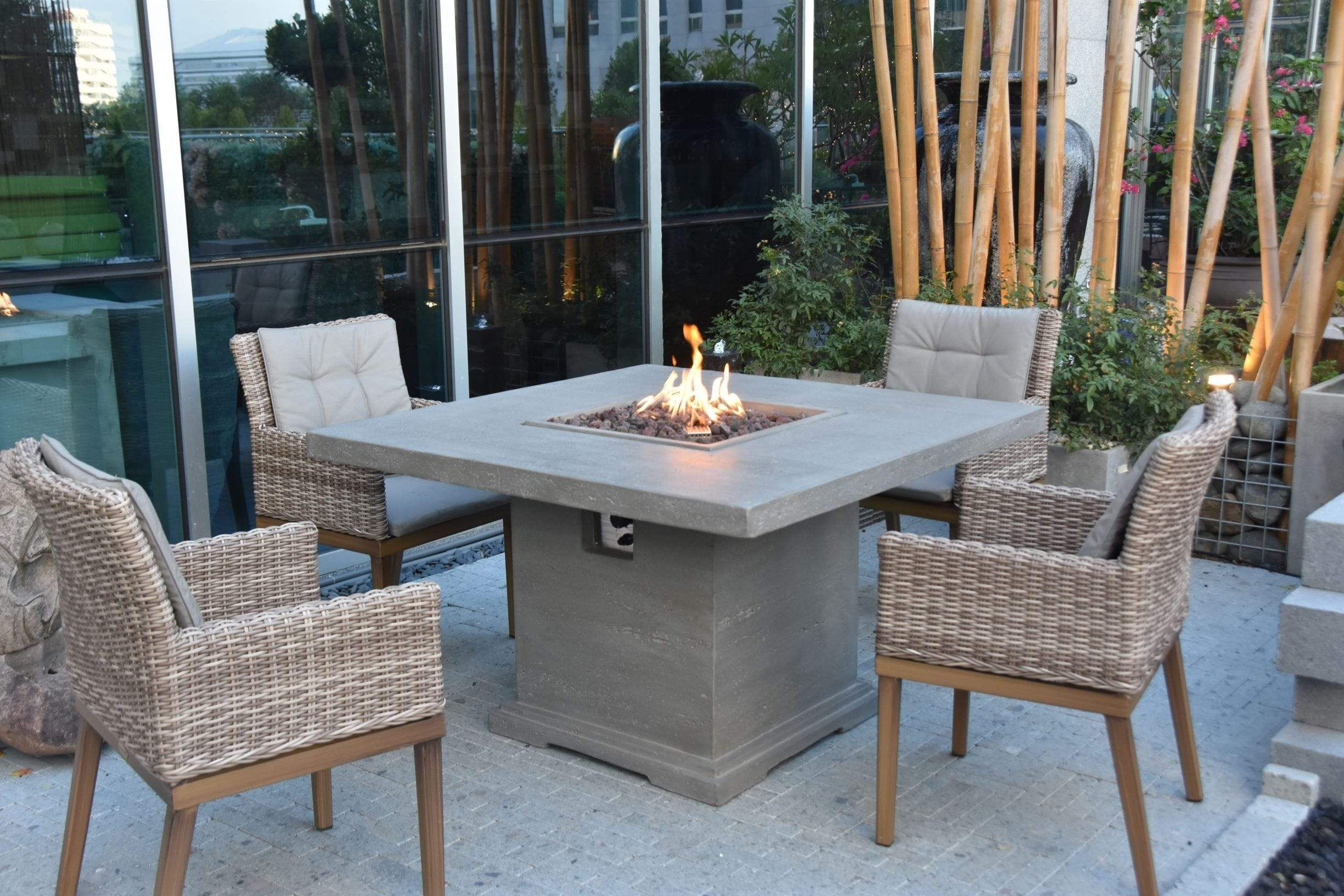 Birmingham Fire Dining Table In 2021 Propane Fire Pit Table Fire Pit Table Propane Fire Pit Modern outdoor fire dining table