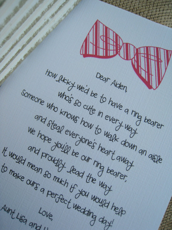 What An Adorable And Unique Way To Ask Your Ring Bearer Or Page Boy Be A Part Of Wedding Party This Card Is Completely Custom You