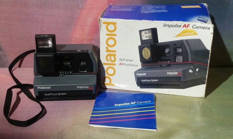 vintage polaroid impulse autofocus af instant camera with box and rh pinterest com polaroid impulse af camera manual Polaroid Impulse Instant Film