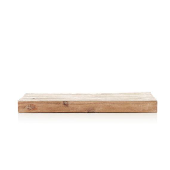 Wandregal Aufhangevorrichtung Integriert Reyceltes Holz Metall Vorderansicht Wandregal Holz Wandregal Wandregal Natur