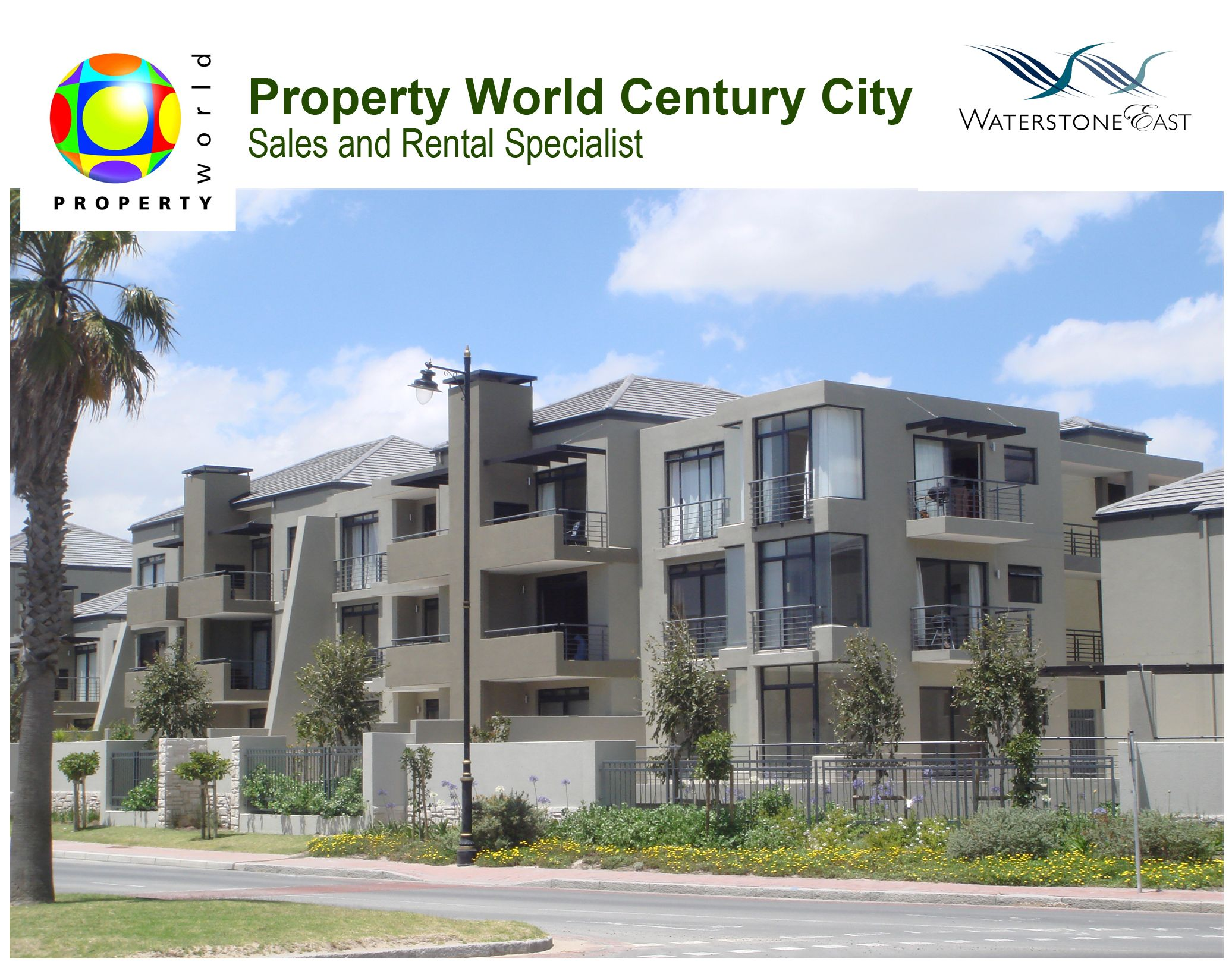 Waterstone East property is a spectacular development of 112 low-rise, walk-up apartments and 13 townhouses based in Century City!