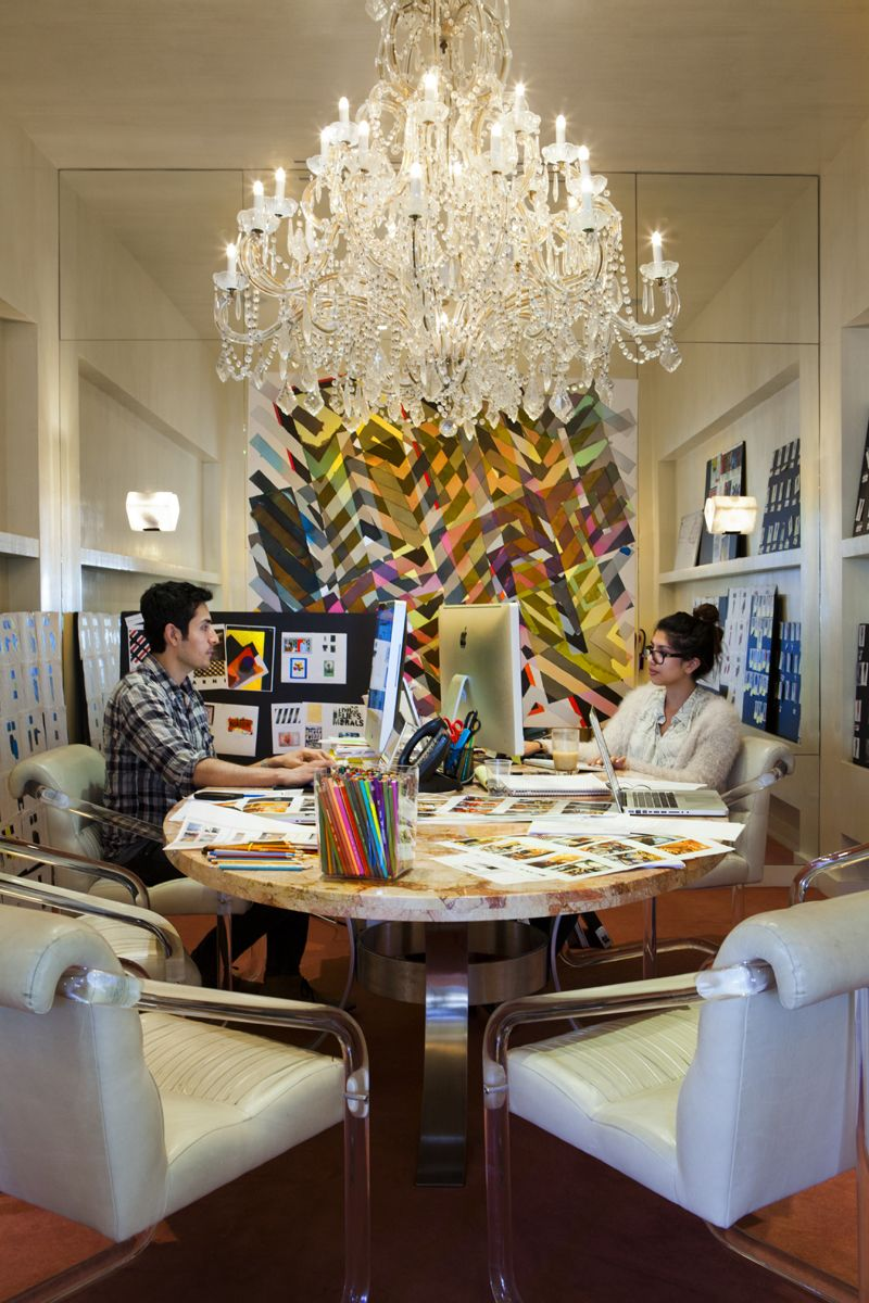 Kelly Wearstler Office Love The Round Table Desk For Multiple People