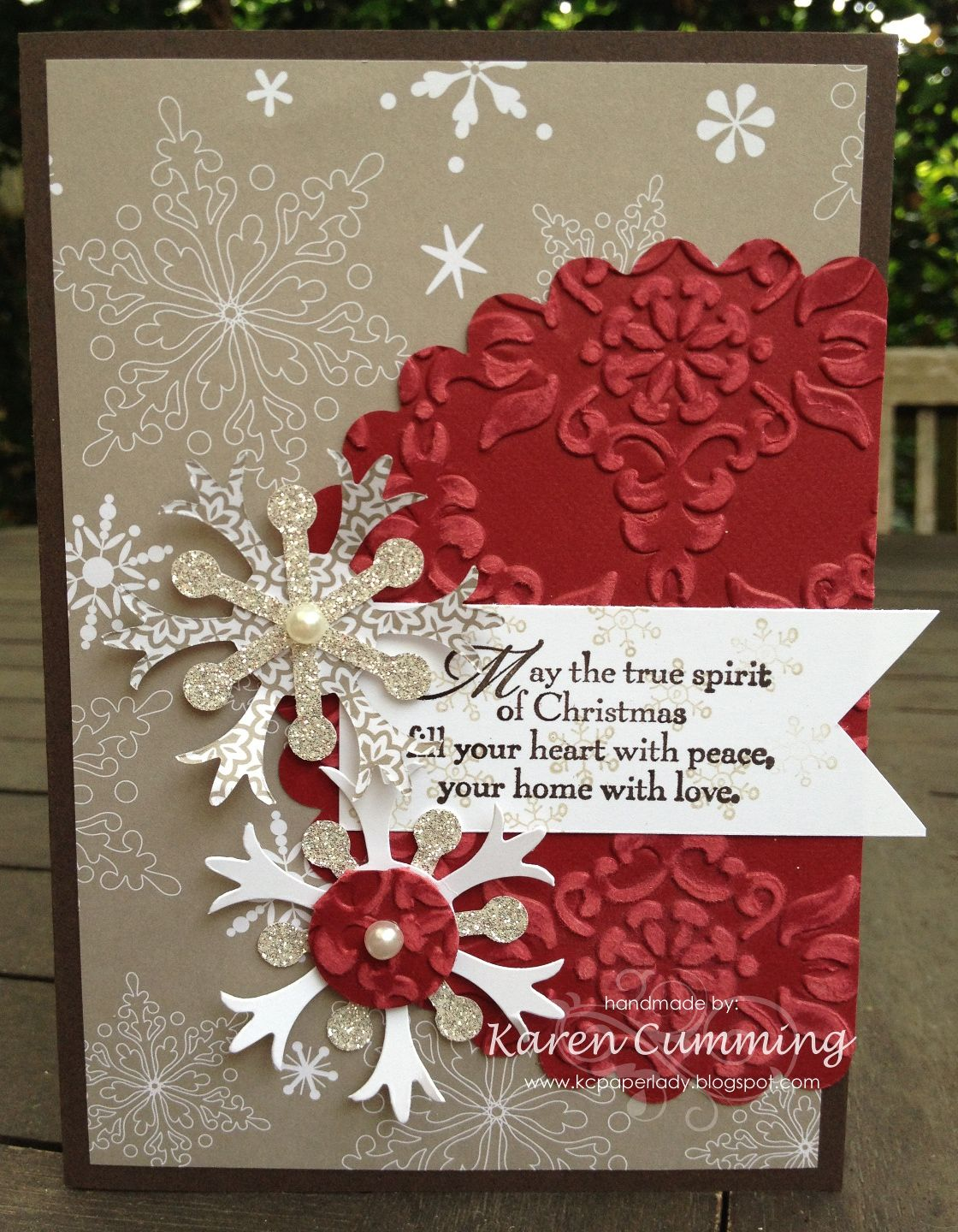 paper circle homemade christmas card paperlady mojo monday 268 card glimmer paper 7002
