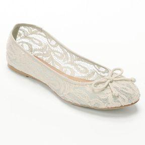 Mudd ® ballet flats #bridalshoes
