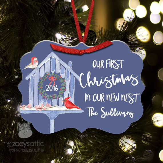 First Christmas in our new nest personalized holiday ornament FCCNN