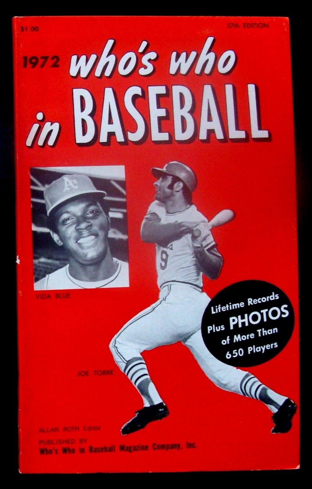 1972 Who S Who In Baseball Joe Torre Baseball Sports Books Sports Magazine