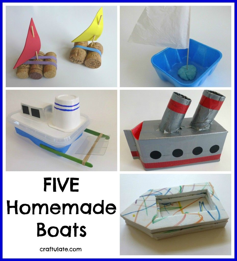 Five Homemade Boats | Boat crafts, Activities for kids, Crafts for ...