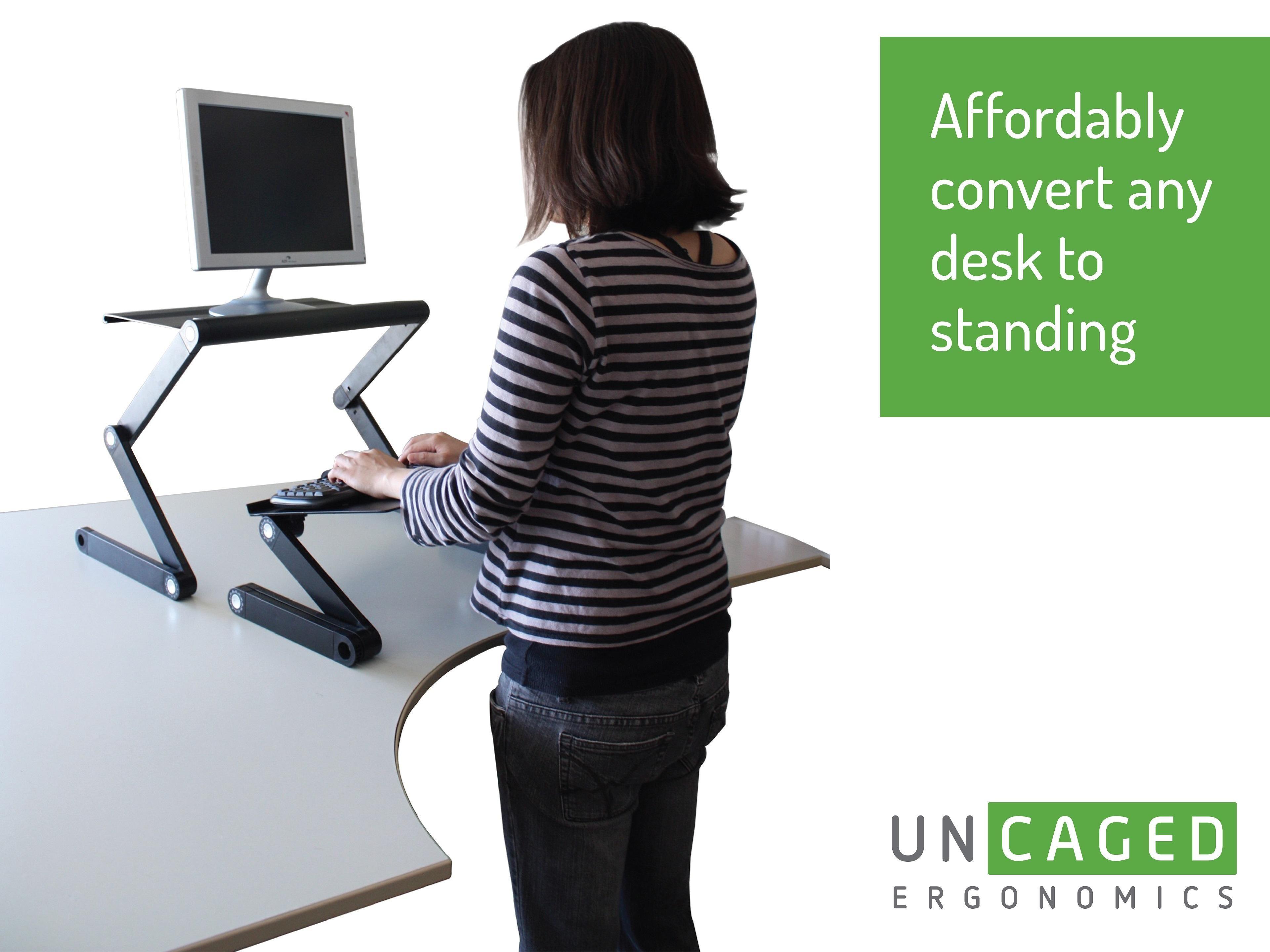 Affordable Ergonomic Adjustable Standing Desk Conversion | Work ...