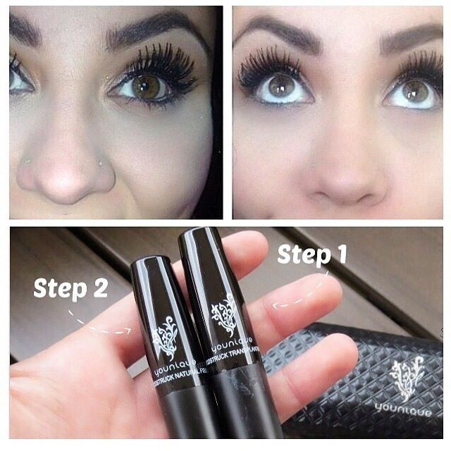 Younique 3D Fiber Lashes go on like mascara, look like false lashes and wash off with soap and water!