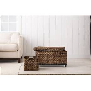 Target Storage Trunk Awesome Wicker Large Storage Trunk  Dark Global Brown  Threshold™  Target