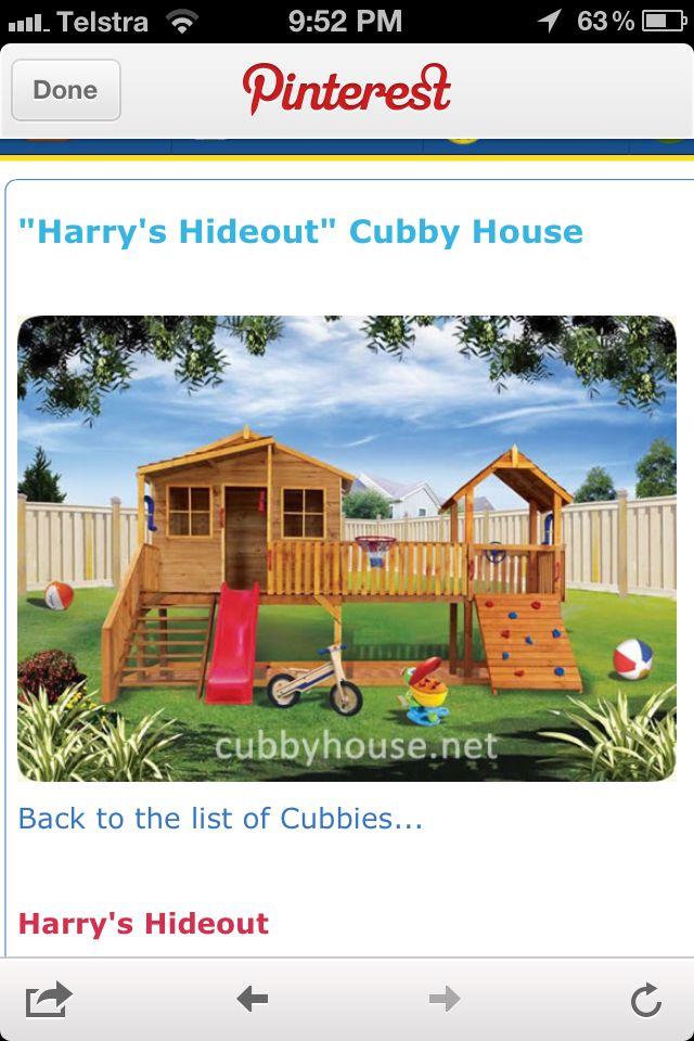 Good design for a cubby house | Cubby houses, Backyard ...