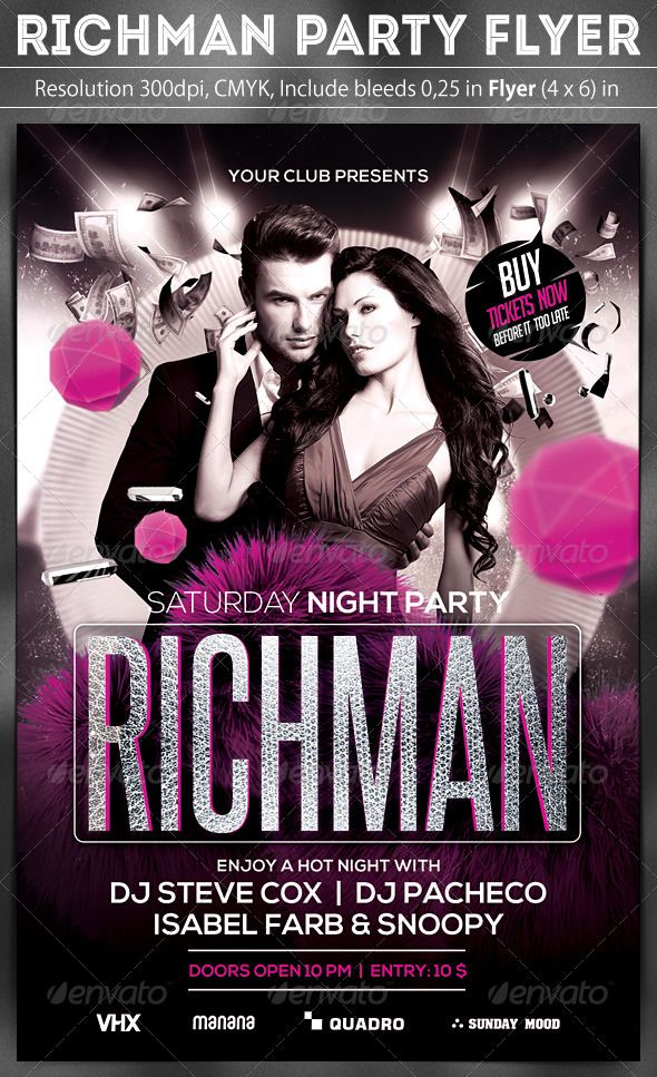 Richman Party Flyer
