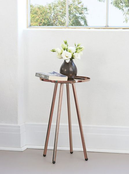 Stool Bedside Table: Understated Modern Metallic Bedside