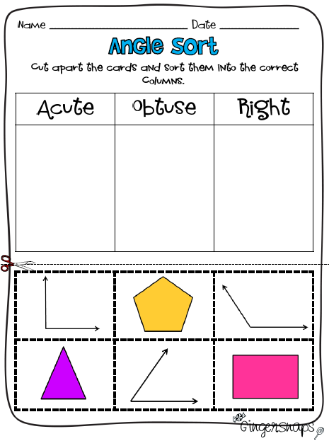 Dont Be Obtuse Print Yourself Acute Angle Worksheet Like This