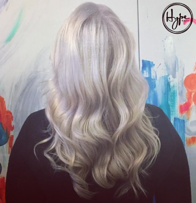 We don't know about you, but we're feeling #icy this winter. #icyblonde #icyhair #platinumblonde #hairbyhype #weloveyourhair #hypevancouver