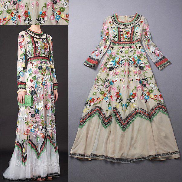 Wloska Hipi Maxi Sukienka Boho Haftowana M 24h 6497463889 Oficjalne Archiwum Allegro Tarz Elbiseler Elbise Modelleri Elbise