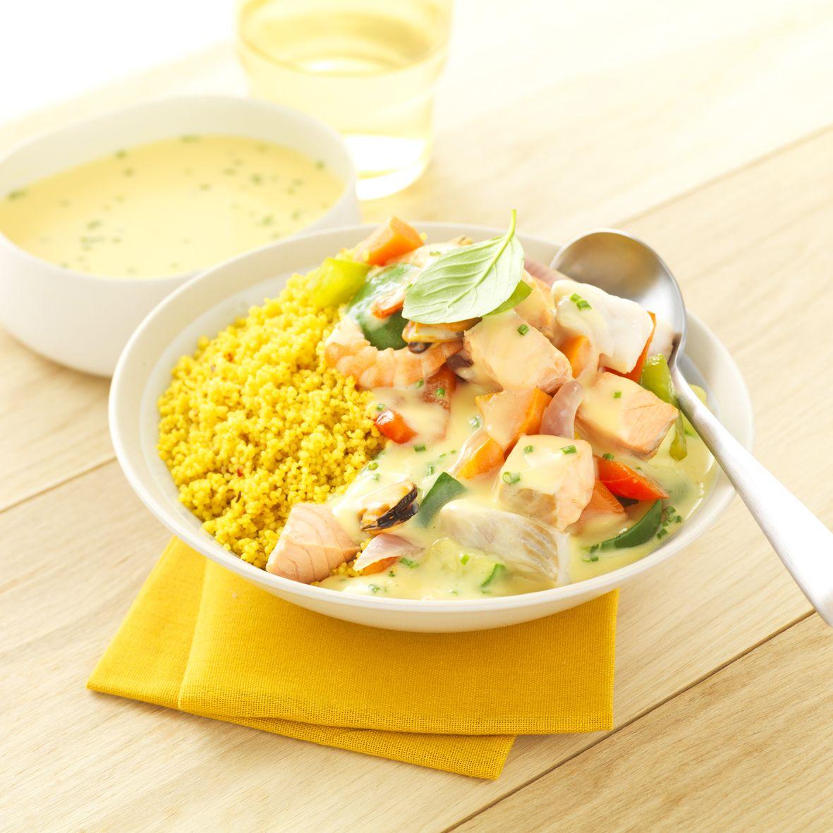 Couscous de la mer sauce beurre citron l recette plat for Plat convivial pour 6 personnes