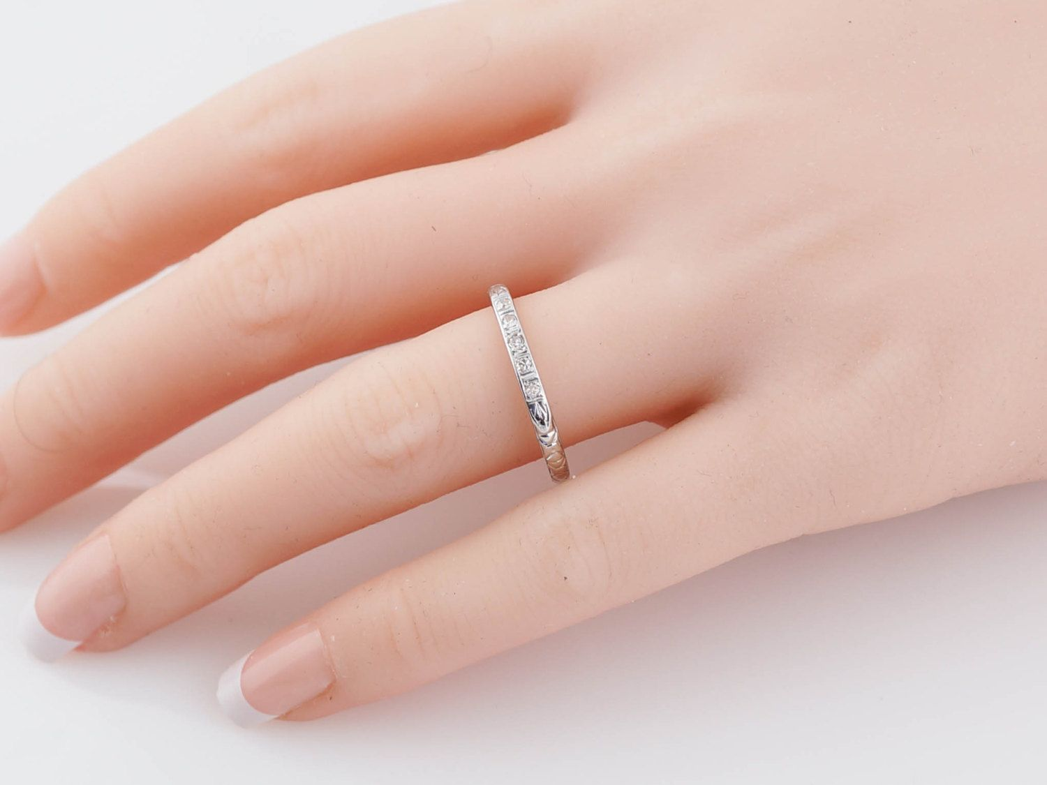 Antique Wedding Band Late Art Deco .10cttw by FiligreeJewelers ...