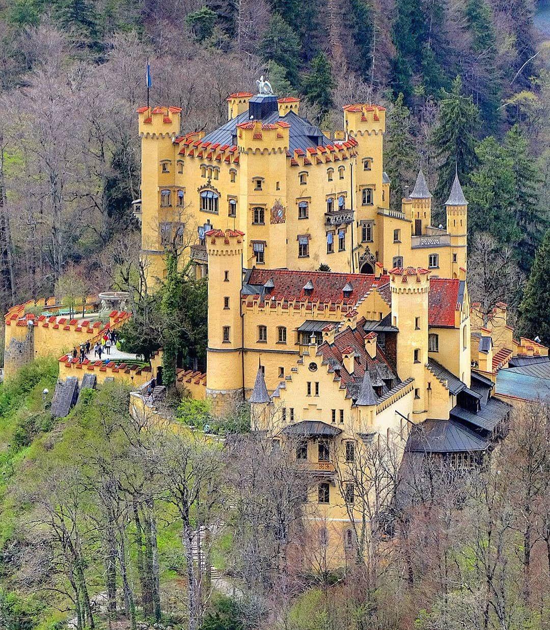 Hohenschwangau Castle Bavaria Germany Schloss Hohenschwangau Bayern Deutschland Zamok Hoenshva Castles To Visit Castle Bavaria Germany Castles