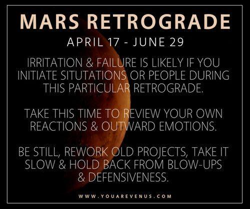 Mars Retrograde Astrology Youenus Life Astrology