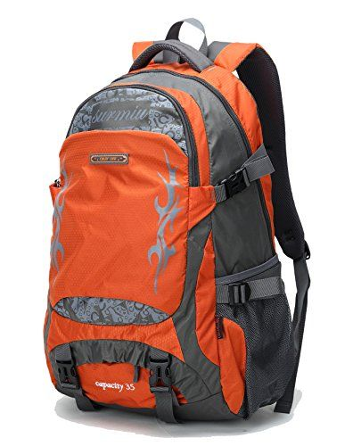 35L lightweight Hiking Backpack 35 liter Waterproof Day Pack Travel Bag for  Outdoor Sport Camping Women Men ORANGE   Continue with the details at the  image ... 2ed67a334c3b0