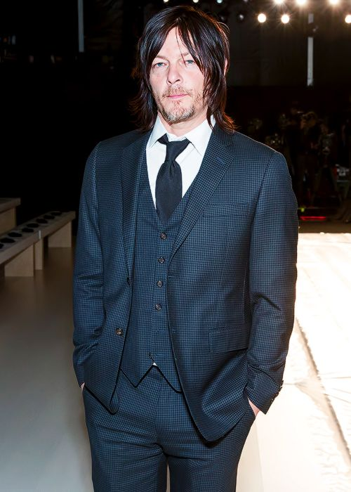Norman Reedus Attends The August Getty Fashion Show During