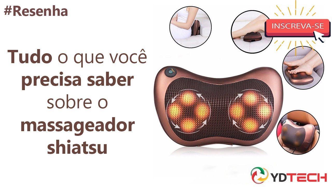 #RESENHA Massageador Shiatsu almofada massageadora veicular com infra-ve...
