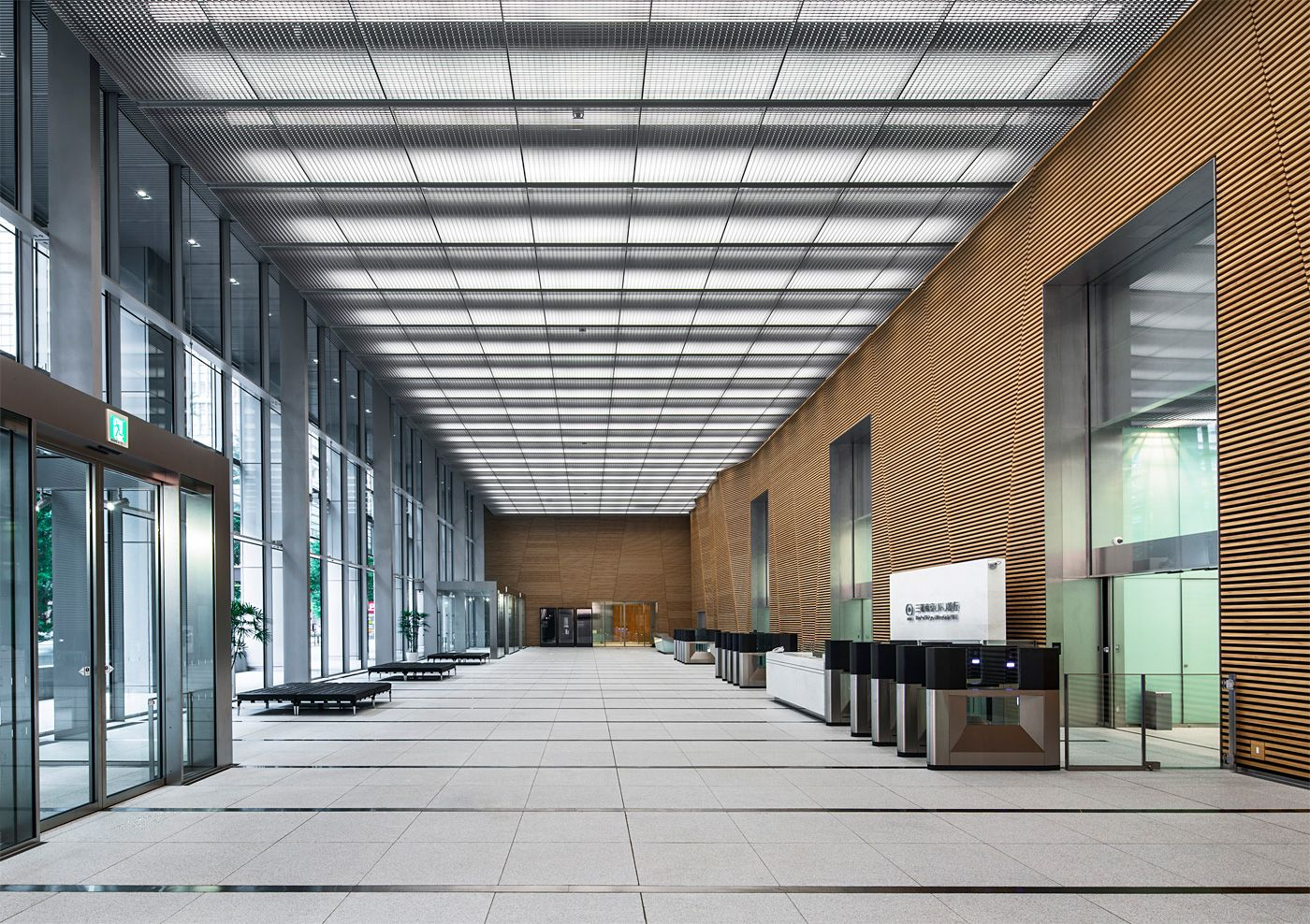 Jahn Designed Japan Post Tower To Open In Tokyo Office Building Lobby Office Lobby Design Business Office Design