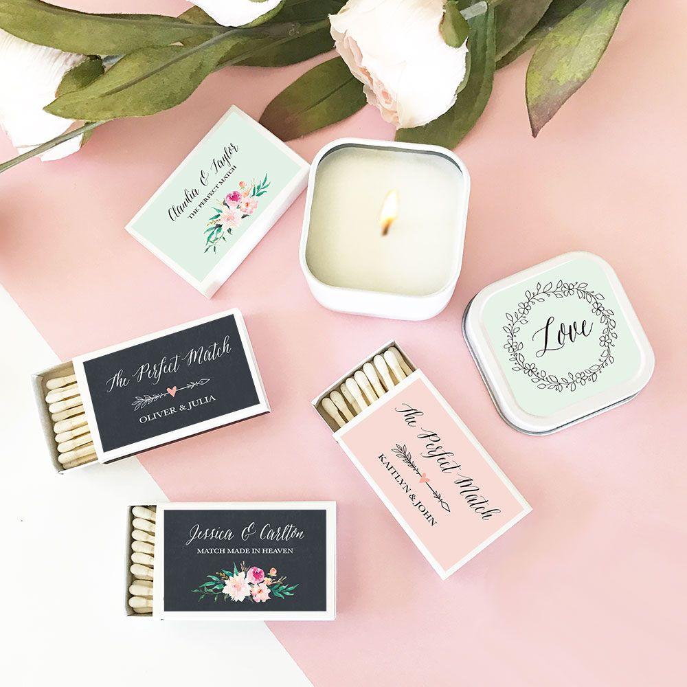 Wedding Matches Floral (set of 50) Matchbooks wedding
