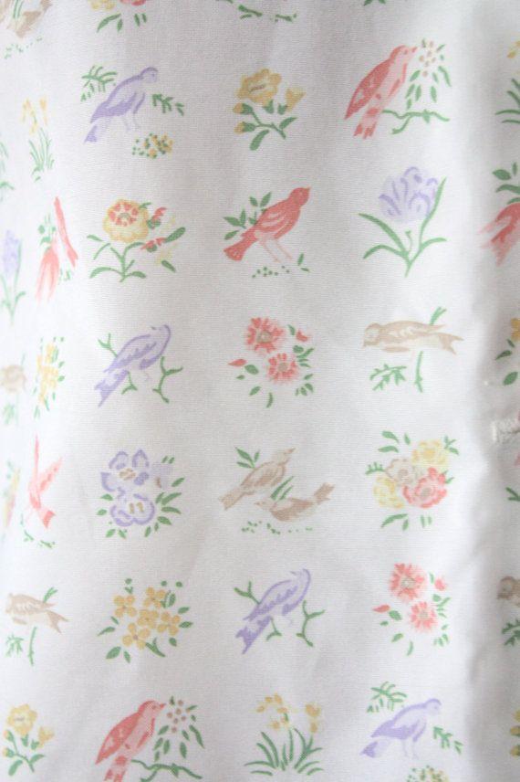 vintage bird blouse by Thrush on Etsy, $42.00