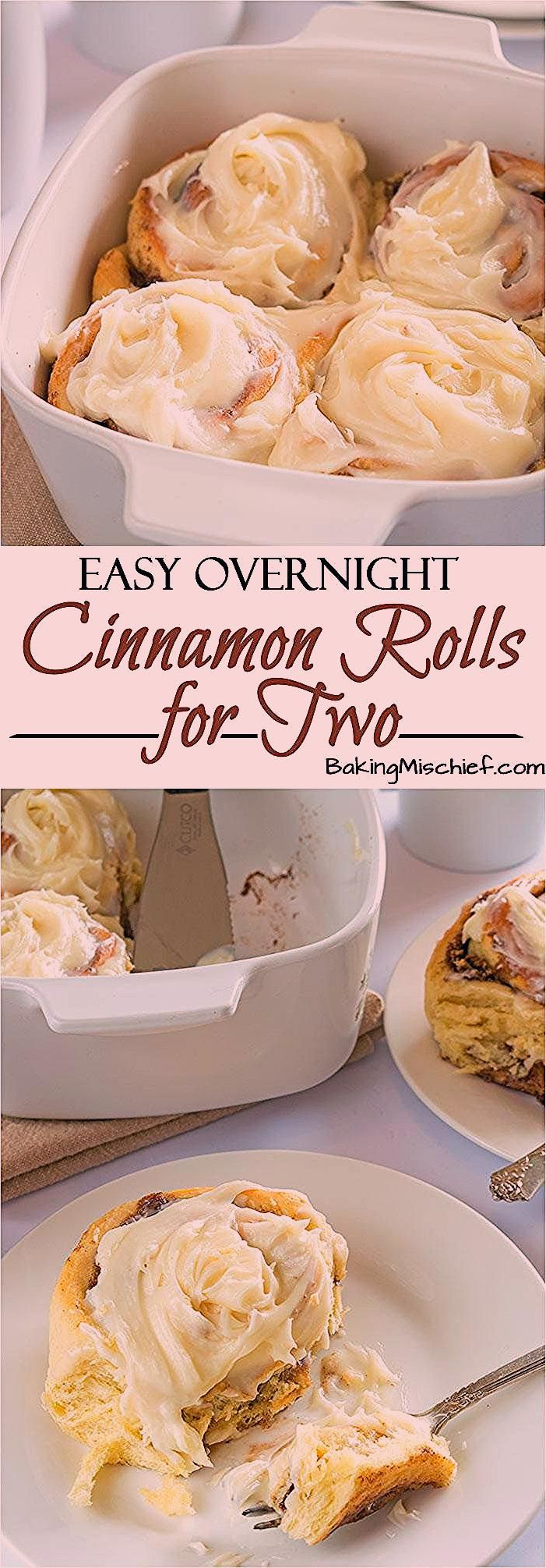 Photo of Easy Overnight Cinnamon Rolls for Two