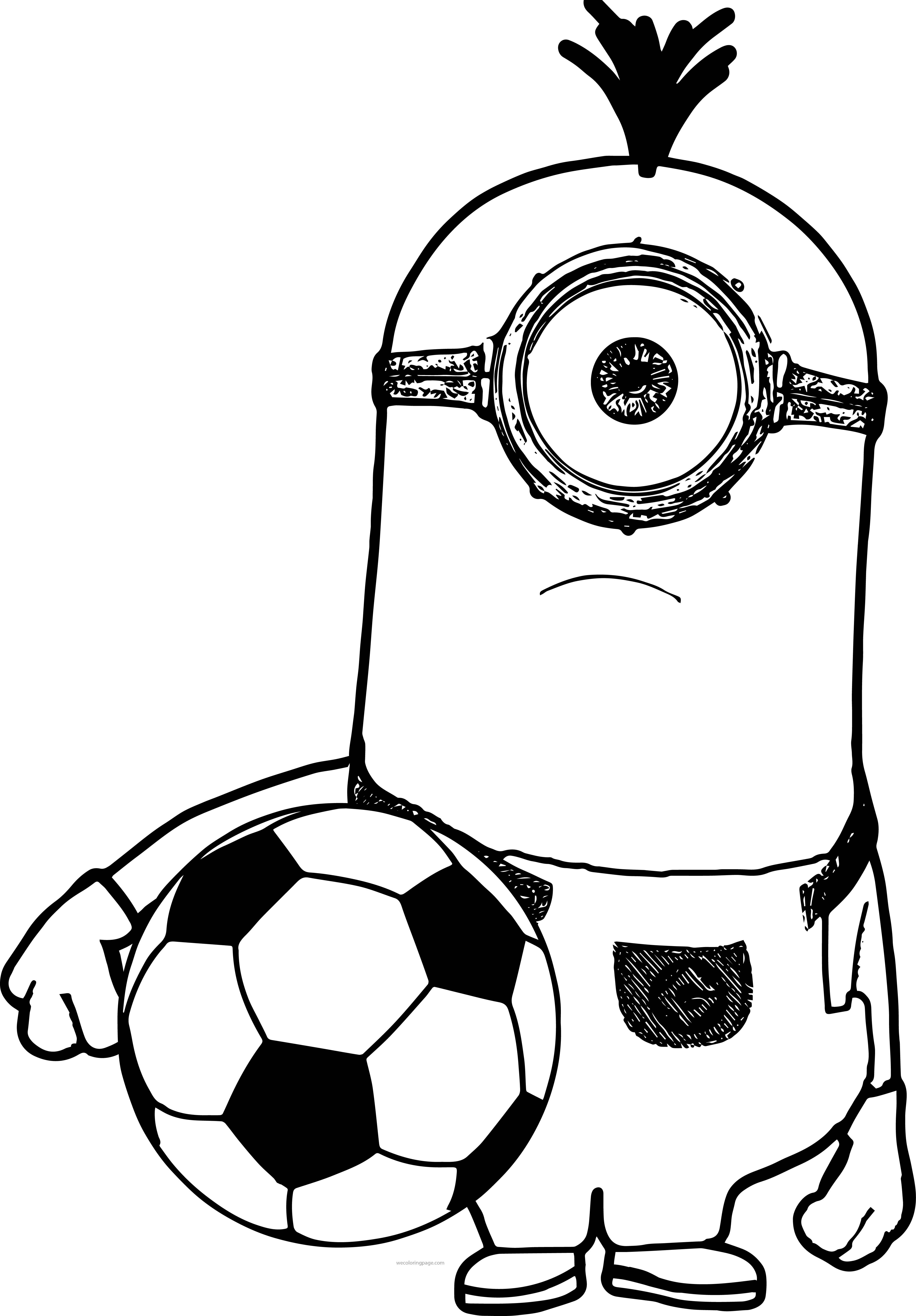 Minion Minions Soccer Selfie Coloring Pages