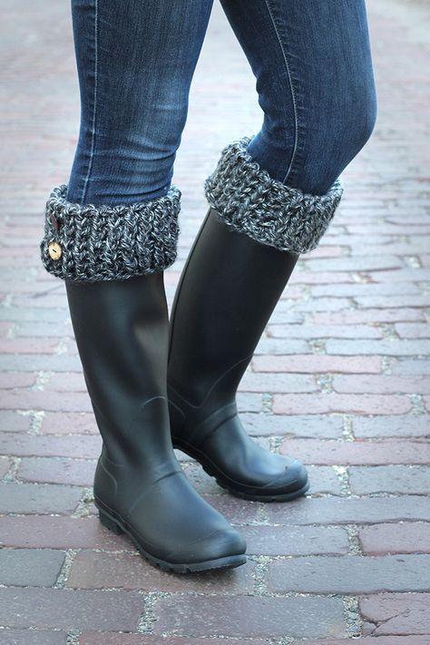 How to make boot cuffs - cozy! | ñella | Pinterest