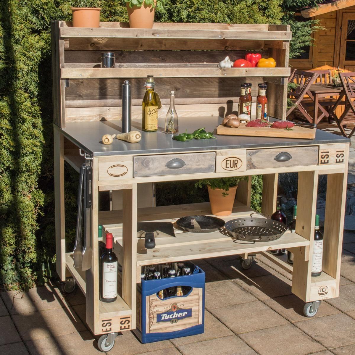 ᐅ Grilltisch aus Paletten | Palettenmöbel selber bauen & kaufen