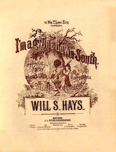 WONDERFUL A4 GLOSSY PRINT - 'I'M A GWINE DOWN SOUTH' - CIRCA 1874 (A4 PRINTS - VINTAGE SHEET MUSIC / SONG BOOK COVERS) by Unknown http://www.amazon.co.uk/dp/B004IT44ME/ref=cm_sw_r_pi_dp_gd2ovb1R7KSVP