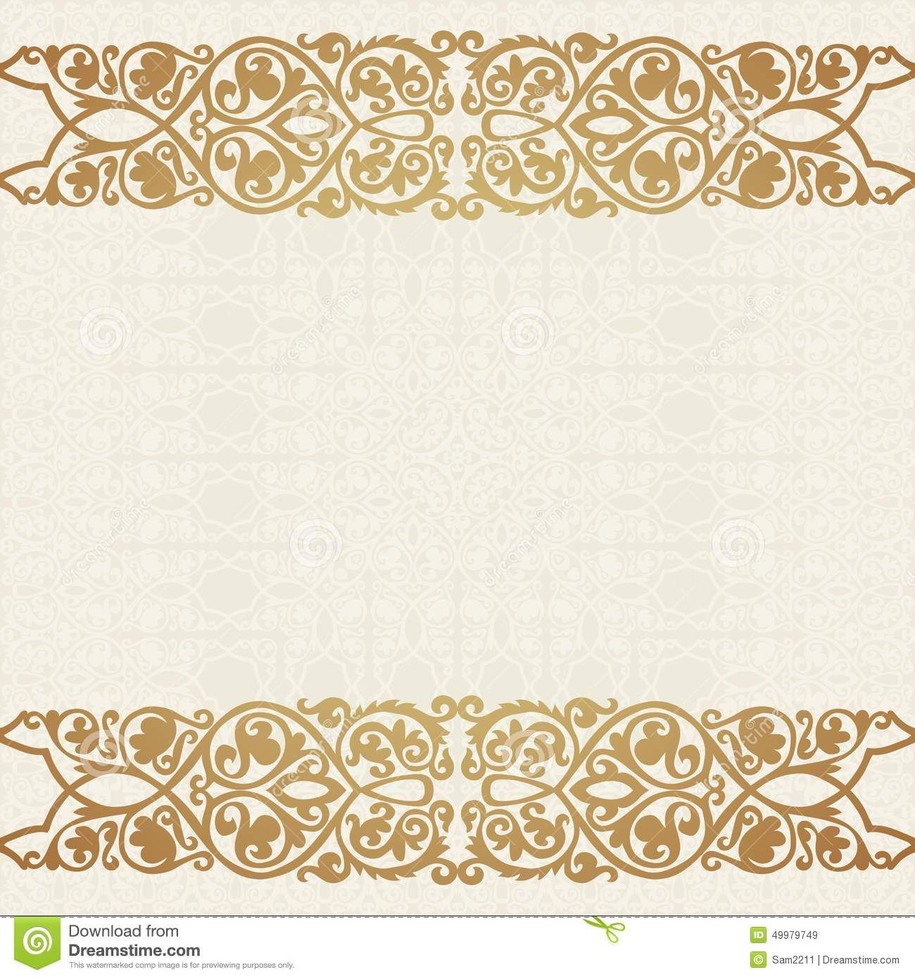 Luxury gold border seamless background save date card wedding luxury gold border seamless background save date card stopboris Image collections