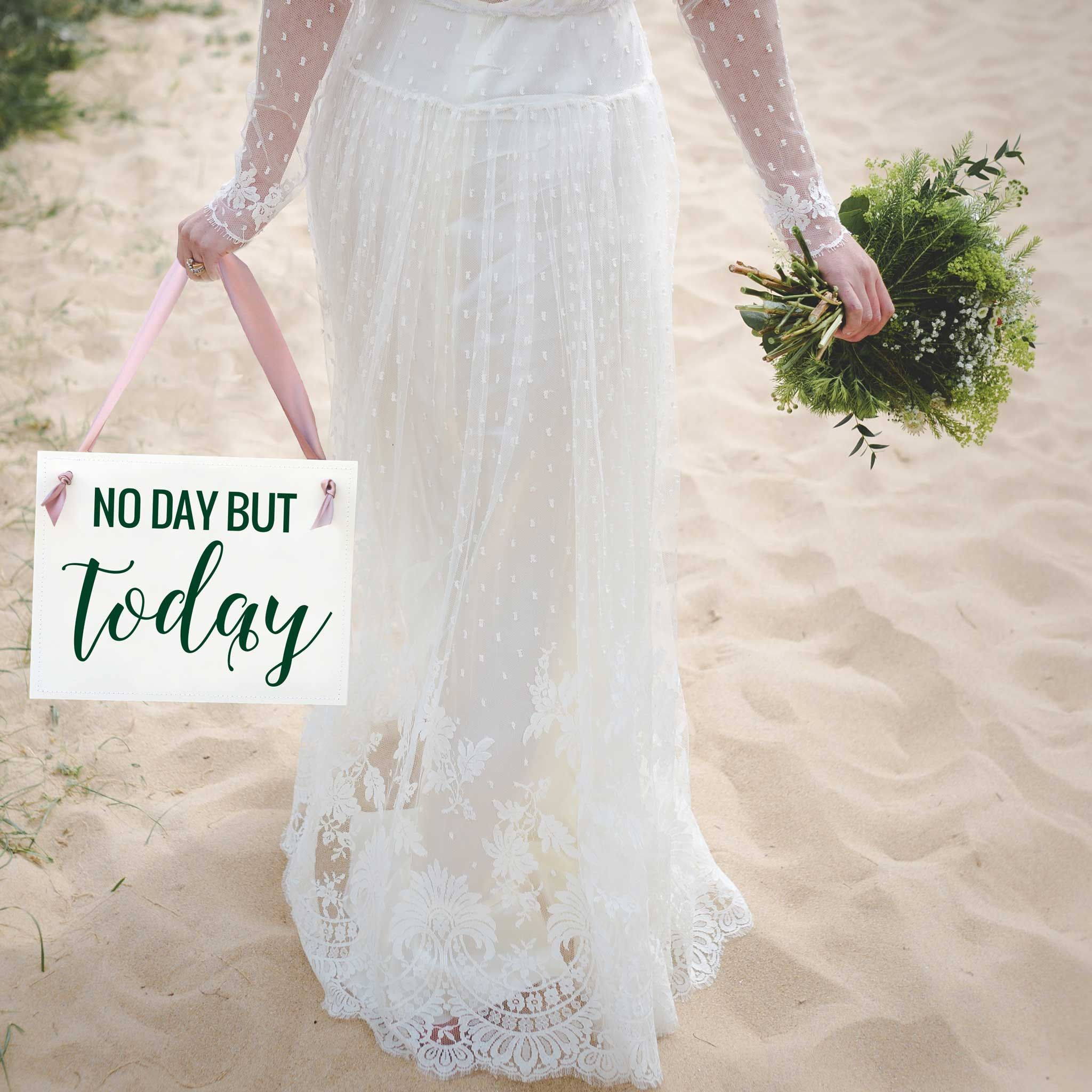 No Day But Today Sign (Broadway Musical RENT reference) - Wedding sign