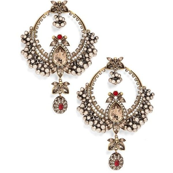 Women's Alexander Mcqueen Sphere Chandelier Earrings (44 960 UAH) ❤ liked  on Polyvore featuring - Women's Alexander Mcqueen Sphere Chandelier Earrings (44 960 UAH