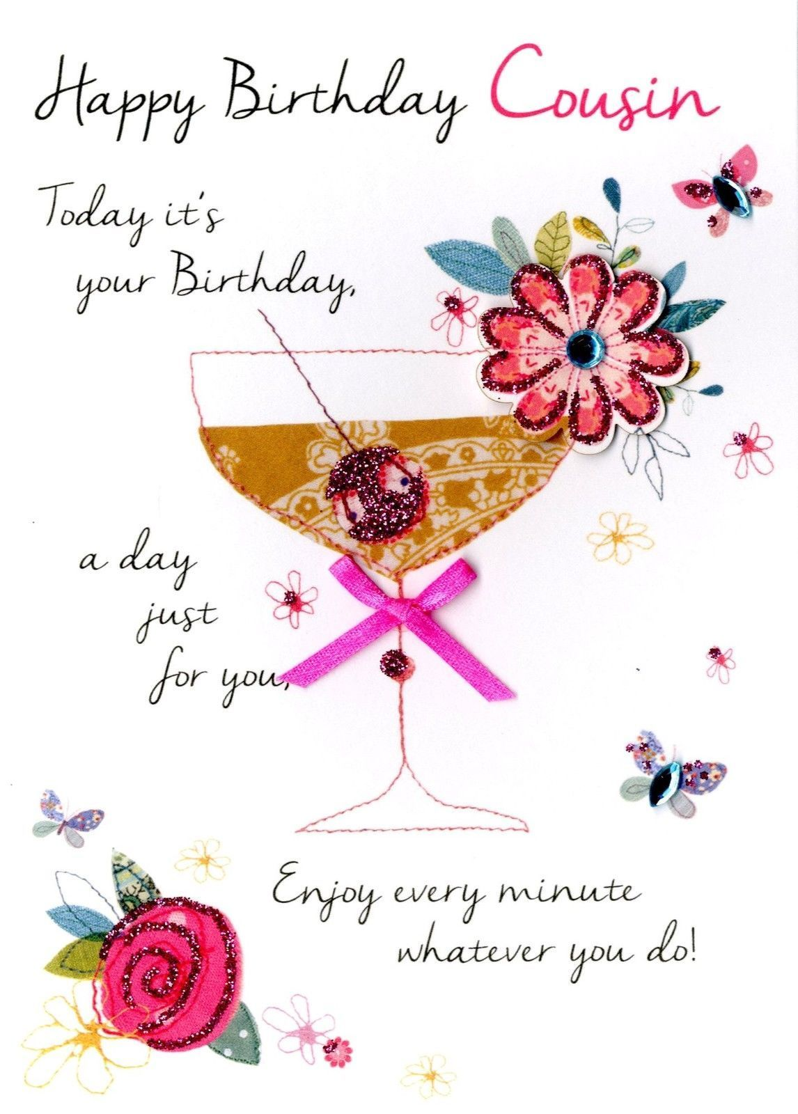 2 99 Gbp Female Cousin Happy Birthday Greeting Card Second Nature Just To Say Cards Ebay Happy Birthday Cousin Happy Birthday Greeting Card Cousin Birthday