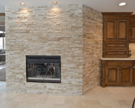 Fireplace Designs With Tile | Design-Tile-Fireplace-Ledgerstone-Cream