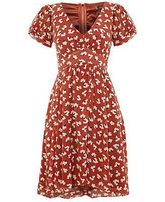 cd90d7699e Jolie Moi 1940s-inspired pattern printed tea dress at House of Fraser
