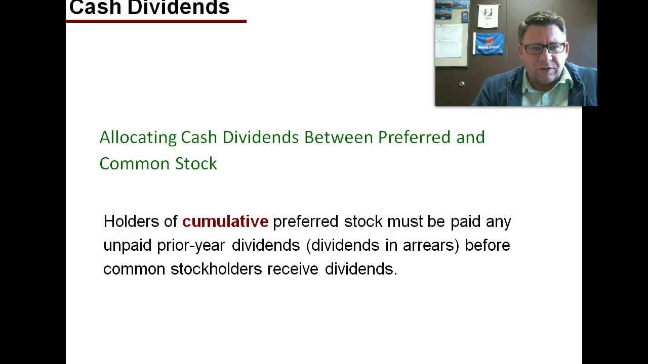 Acct 2010 ch9 lo4 cash dividends dividend common stock