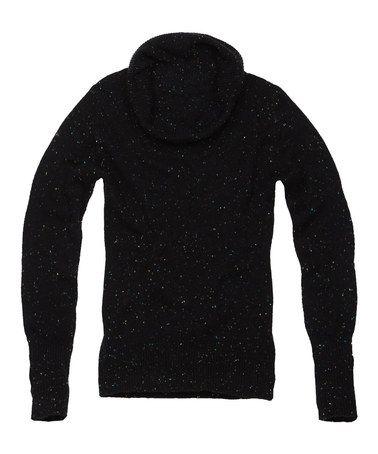 Another great find on #zulily! Black Sparkle Wool-Blend Turtleneck Sweater #zulilyfinds