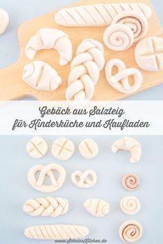 Gebäck aus Salzteig für Kinderküche und Kaufladen - Schnin's Kitchen