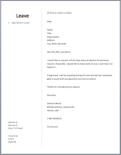 Leave application letter roma pinterest free leave application letter school teacher semioffice com sample absence formal samples spiritdancerdesigns Gallery