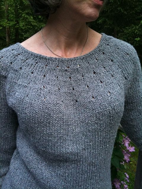 This is my first knitted sweater, as simple as I could ...