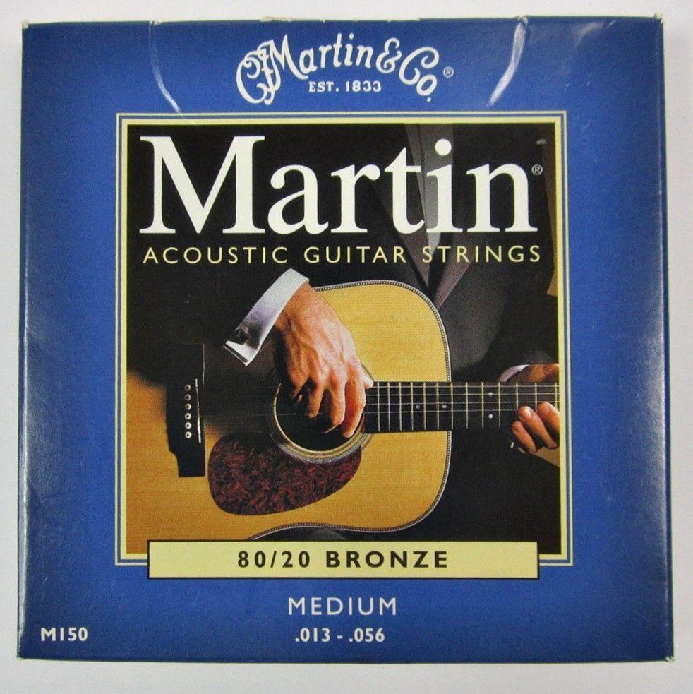 Martin Acoustic Guitar Strings Set 80 20 Bronze M150 Medium 013 056 Martin Strings Guitar Acoustic Guitar Strings Guitar Strings
