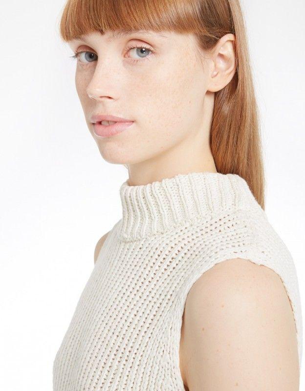 Sleeveless Rib Knit (cream)